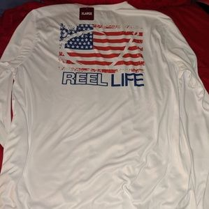Reel Life Longsleeve sun shirt High UPF Rating.